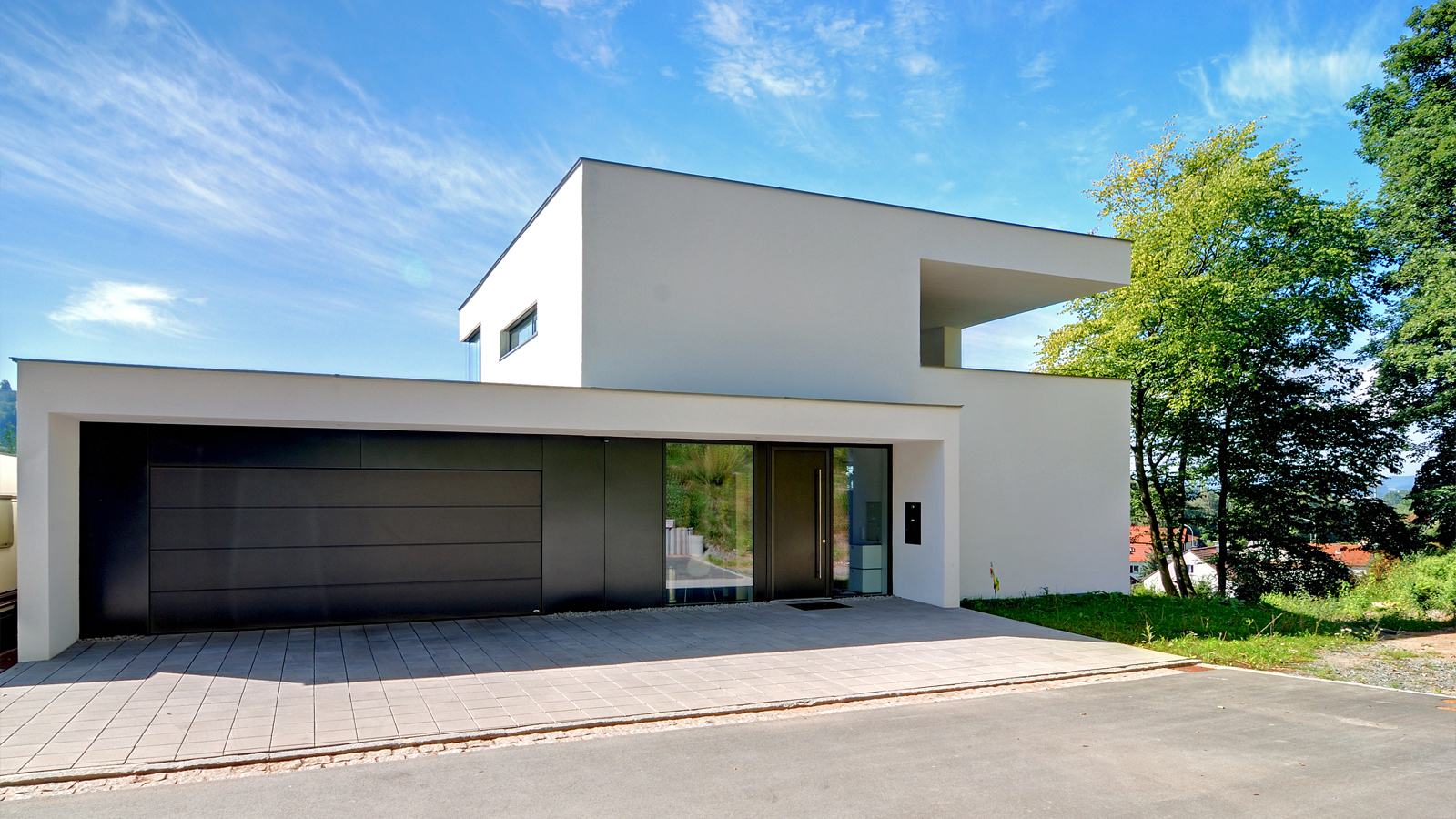 B3 kubus am hang h2m architekten ingenieure for Haus architektur