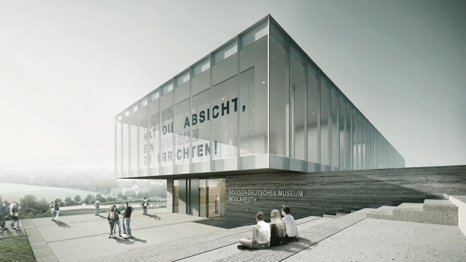 h2m-architekten-deutsch-deutsches-museum-moedlareuth-perspektive-aussen