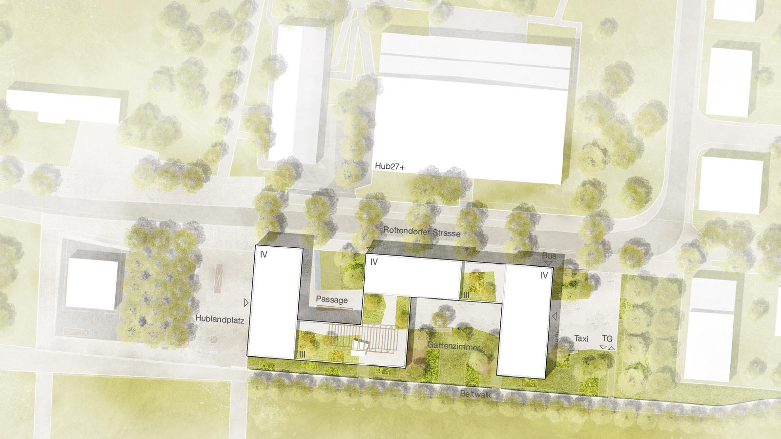h2m-architekten-wettbewerb-ärztehaus-hubland-würzburg-lageplan
