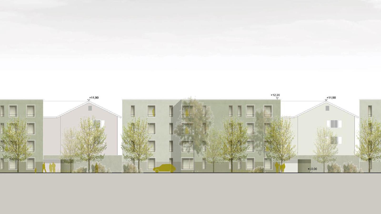 h2m-architekten-wettbewerb-goethequartier-ansicht-nord-schallschutzbebauung