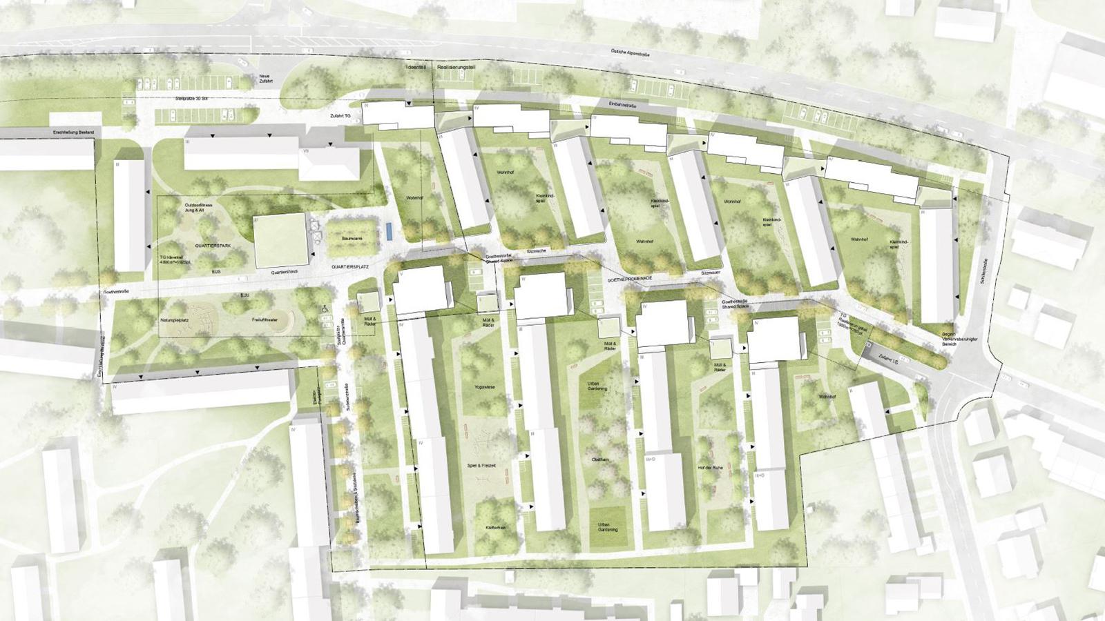 h2m-architekten-wettbewerb-goethequartier-sonthofen-lageplan-laermschutzbebauung