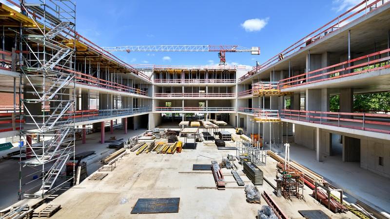 Baustellenbegehung Maria-Ward-Schulen