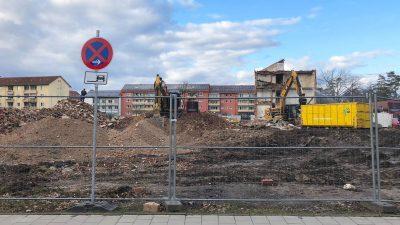 Die Abbruchbagger rollen in Erlangen